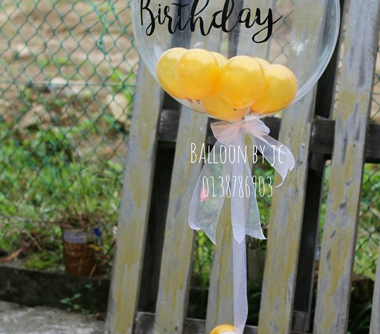 Organic Personalise Balloon Design