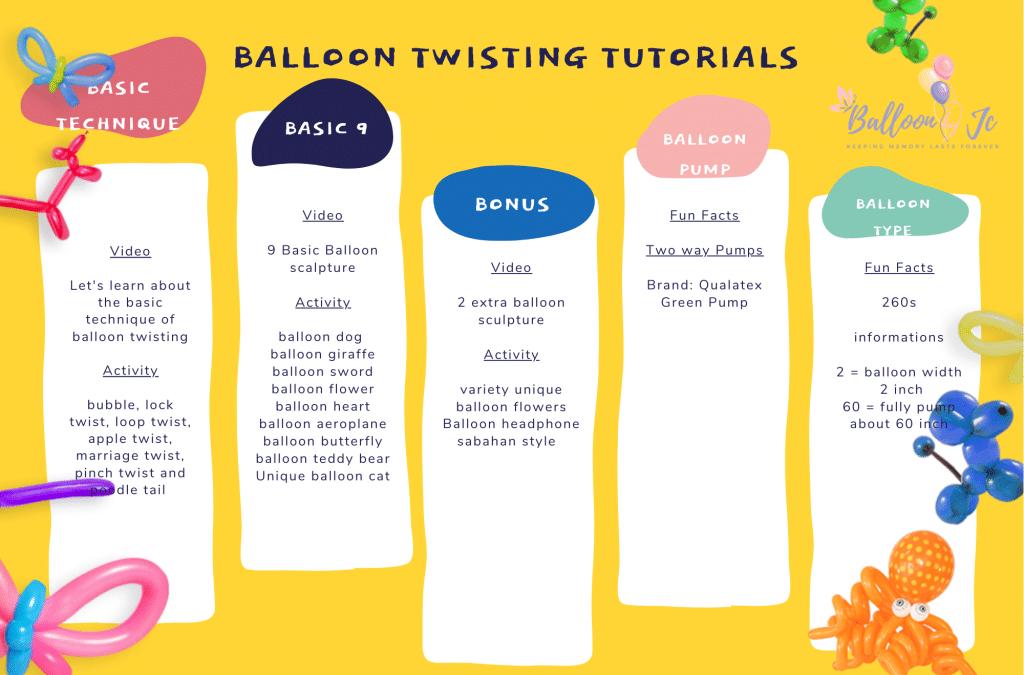 Home Balloon Art school online, lock-down solutions